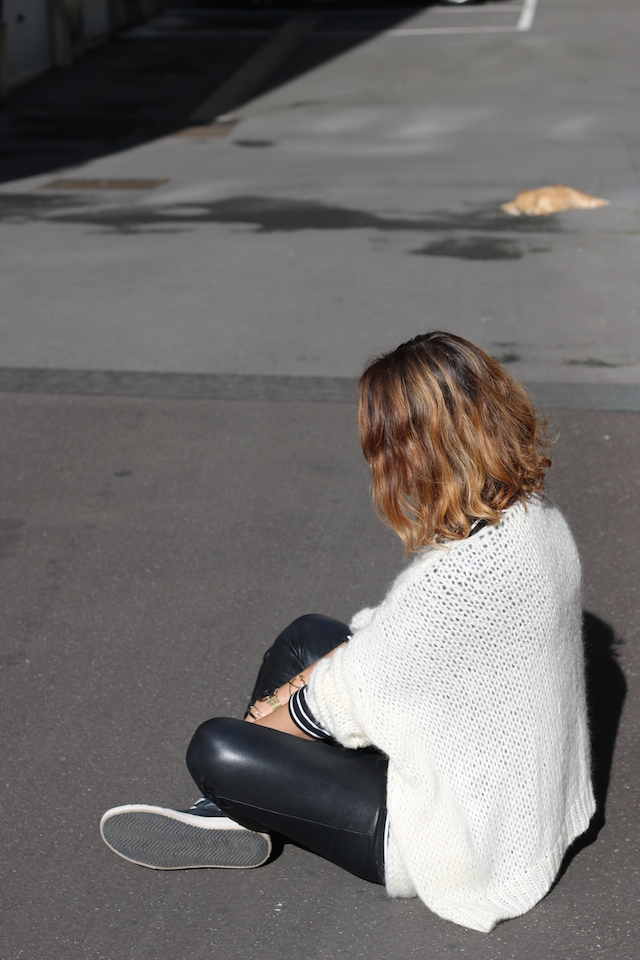 Juste juliette, blog mode, blog mode lille, fashion blogger, lille, pretty wire, gilet doudou, golden goose, shine blossom, legging en cuir, cabas cuir